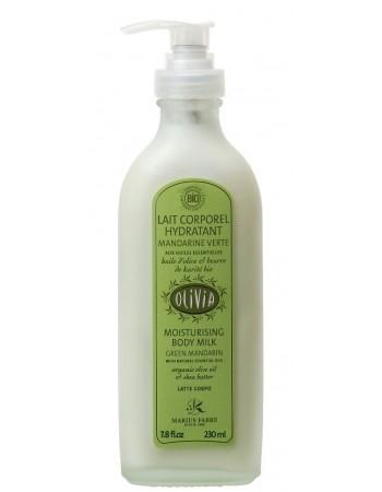 Body Milk Organic Green Tangerine 230 ml pump OLIVIALait Corporel Bio Mandarine Verte 230 ml pompe OLIVIA