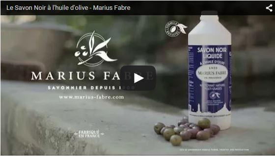 Le Savon Noir à l'huile d'olive Marius Fabre - Video