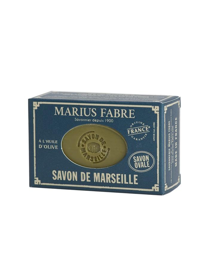 Savon de Marseille NATURE à l'huile d'olive ovale 150g avec son étui